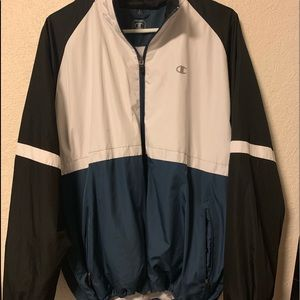 Champion windbreaker. Size large.